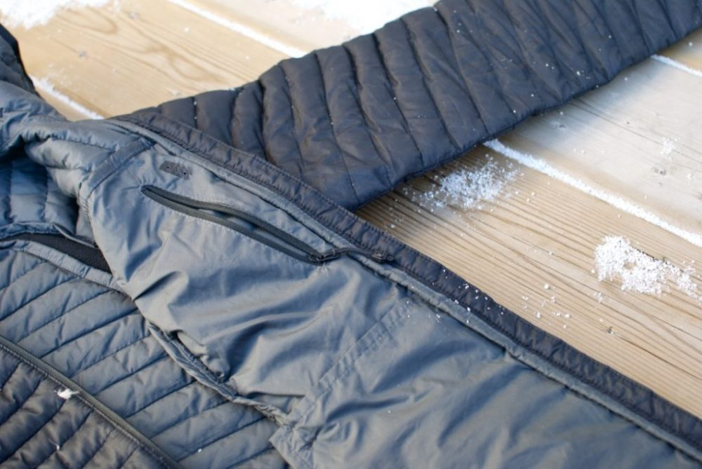 Eddie Bauer Microtherm 2.0 StormDown Jacket Review - inner pockets and features