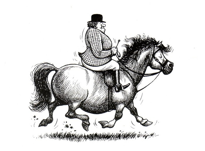Should Fat People Ride Horses?