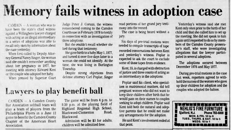 Edward Kent - Illegal Adoptions NJ