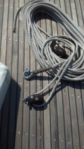 Traditionally Rigged 2:1 Halyard, Spliced, Parceled and Served!
