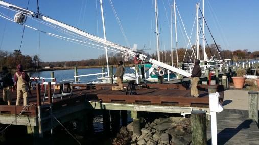 Hinckley Bermuda 40. Goin' Up....annapolis rigging