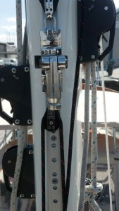 Forespar Whisker Pole On-the-mast System by The Rigging Company. Peterson 44.