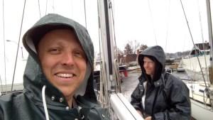Jimmie Cockerill and Sean Simmons.....Workin' in the Rain!