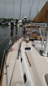 Stow the Preventer Control Line Near the Shrouds for Easy Access. The Tartan 3700