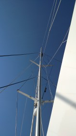 Wire Rigging on sailing yacht. Lagoon 620. The rigging company