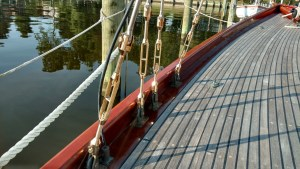 Hayn Marine Bronze turnbuckles on a 1903 yacht