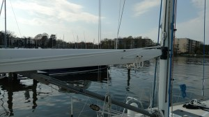 TRC Lazy Jack Legs, made to go forward so you don't have to modify your mainsail cover. J42