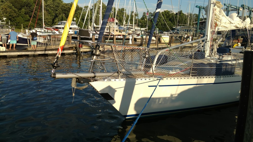 Nordic 44 with the New Selden GBS Sprit with Anchor Roller Mount.