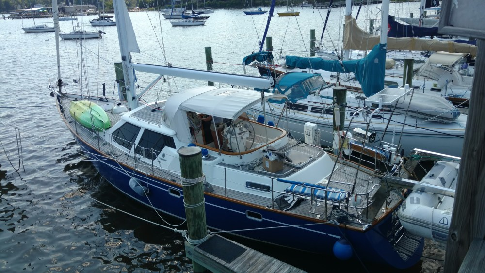 The Oyster 49 Project. Refinish. New STanding Rigging. New Running Rigging. New Mainsheet Bail. New custom Vang Lug. New Spinnaker Crane Gussets. All Made Custom Here in House!