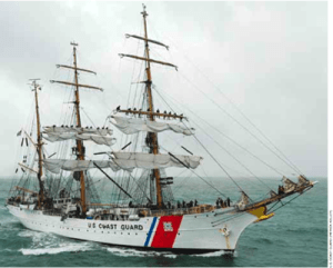 U.S. coast guard square rigger