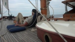Captain Paul Itzel aboard Witchcraft