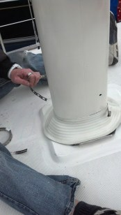 How to install a mast boot. The Rigging Company