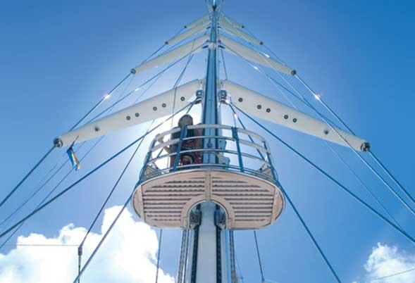 mast elevator - felicita west - panamax mast