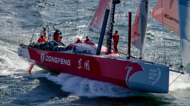 Volvo Ocean Race. Sanya. Team Dongfeng Racing