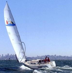 Cat rigged boat