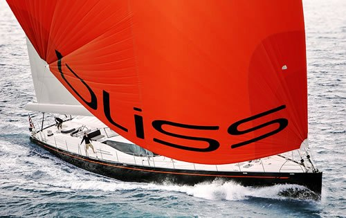 Bliss yacht Spinnaker furling