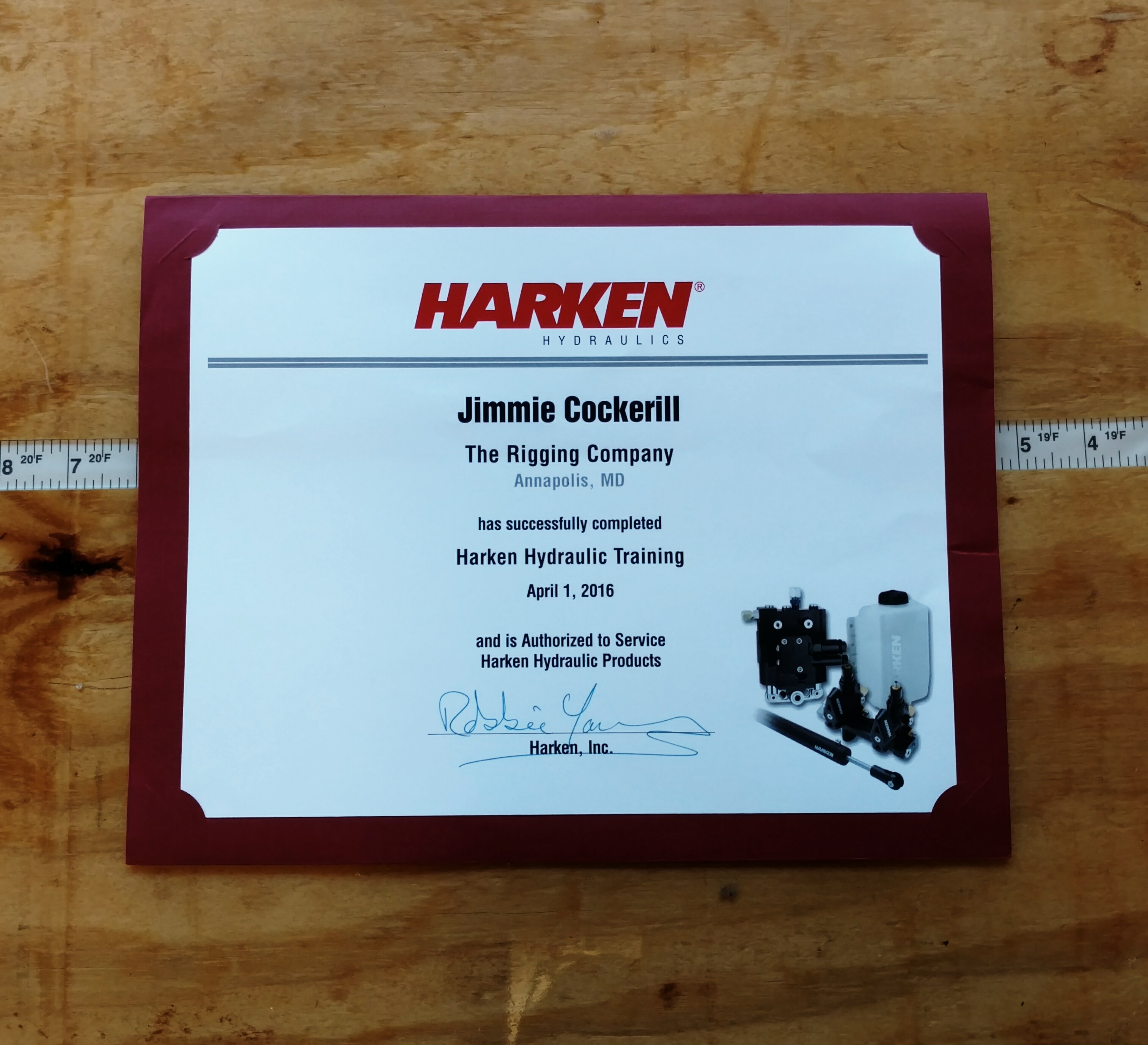 Authorized Harken Hydraulics Service Center – The Rigging