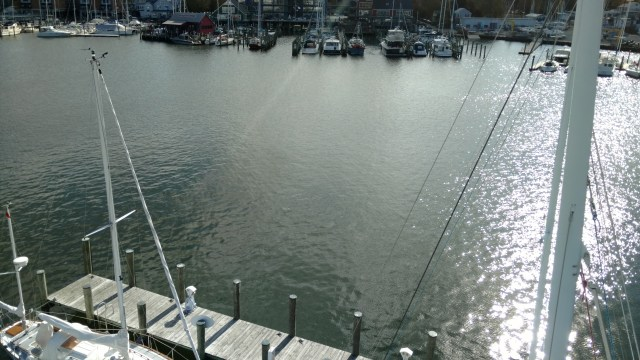 Annapolis Yacht Club. AYC. Aloft