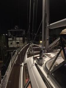 Spreader deck lights. Moody 54