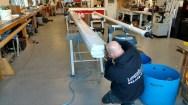 Oyster 56hydraulic Boom Getting Reassembled