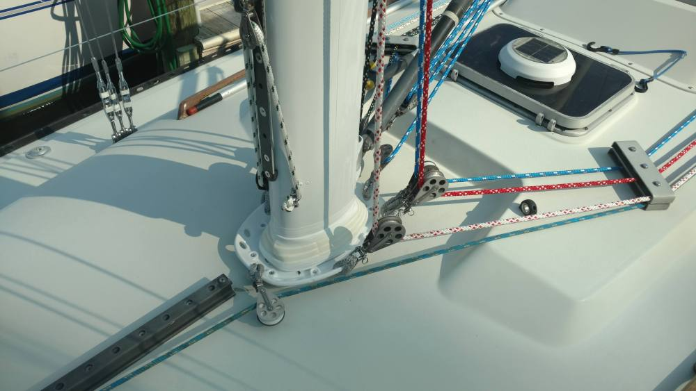 C&C 35. Custom Welded New Spreader Doublers. Complete Running Rigging Package. Complete Standing Rigging Package. Chainplate removal and service and partial replacement. Hydraulic Service and Deck Collar and Mast Step service to go along with it. The Rigging Company, making sure you can safely sail anywhere for the next 10-15 years.