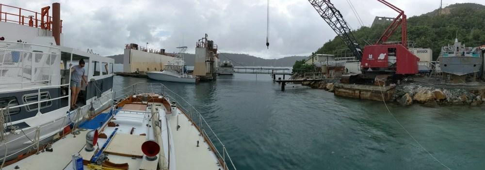 Hinckley Bermuda 40 New MAts Build 1st phase St. Thomas Dry Dock