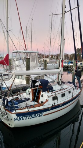 """Introducing the nicest 24 footer in the world! New Selden Mast, New Harken Headsail Furlers, New Running Rigging, New Electrical Package, a New Leisure Furl Furling Mainsail, Painted AwlGrip """"Eggshell White"""", along with ALL of the Fixins'. Pacific Seacraft Dana 24. Sails Provided by our Friends at Chesapeake Sailmakers."""