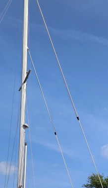 Why do people tie down the halyards swivel