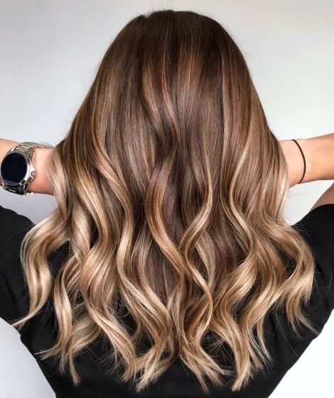 Long Wavy Bronde Balayage Hair