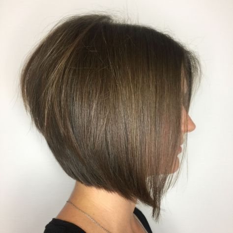 Sleek Stacked Brown Bob