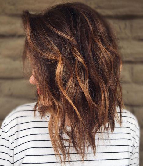 Chocolate Hair with Chestnut Balayage