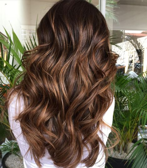 Dark Brown Hair With Chocolate Highlights