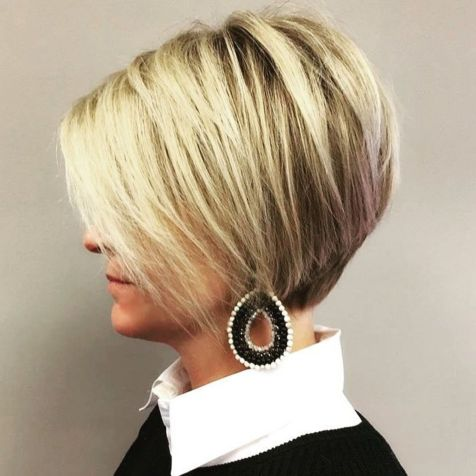 Wispy Short Bob With Side-Swept Bangs