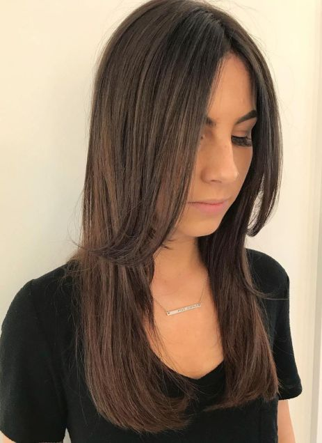 8 centreparted layered cut for long hair