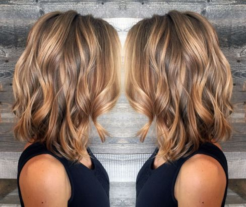 Light Brown Hair With Caramel Balayage