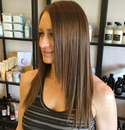 Straight Cut With Long Face-Framing Layers