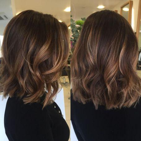 Medium Shag Hairstyle With Beachy Waves