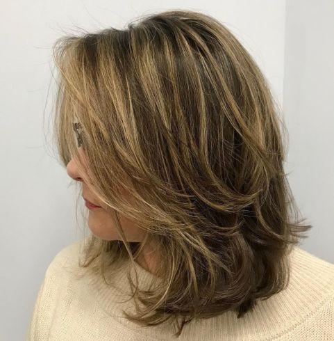 Mid-Length Layered Disheveled Hairstyle