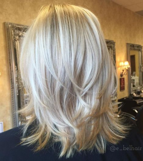 Piece-Y Feathery Cut For Medium Length Hair