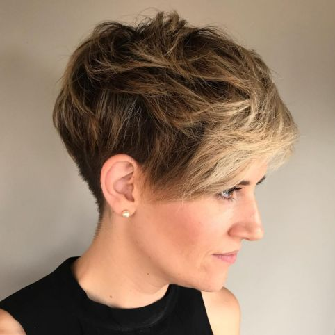 Messy Pixie For Thick Hair