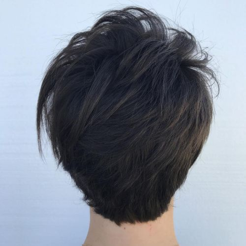 Brunette Pixie With Razored Layers