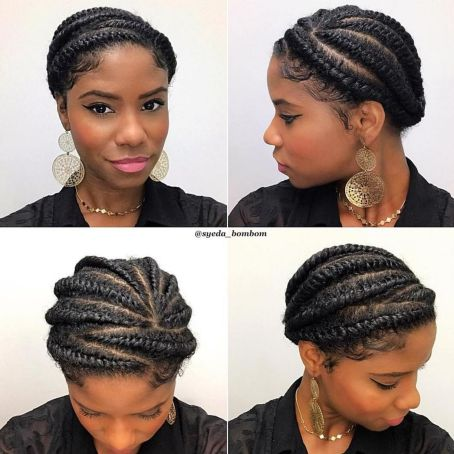 Cute Twisted Updo For Natural Hair