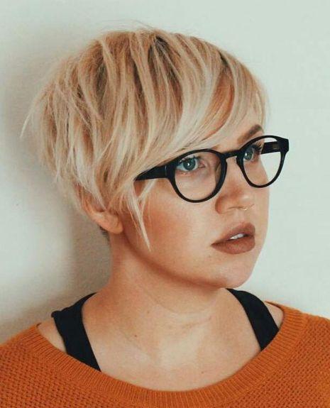 Chopped Blonde Pixie For Fine Hair