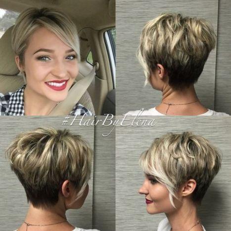 short layered brown blonde haircut