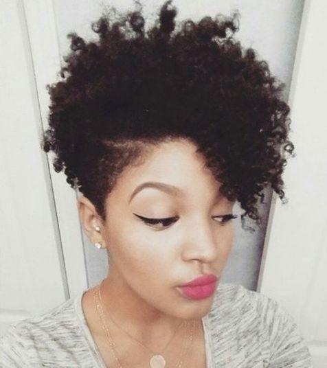 black women's short hairstyle