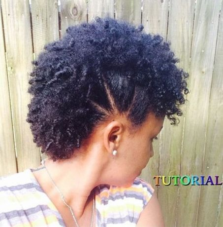 fauxhawk hairstyle for short natural hair
