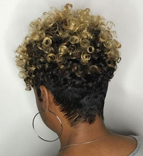 Short Curly Hairstyle with Nape Undercut