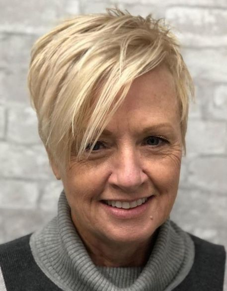 50+ Spiky Layered Blonde Pixie
