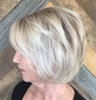 Over Ash Blonde Balayage Bob