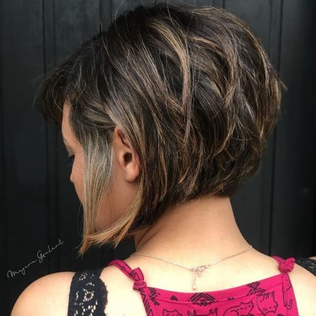 Stacked Layered Bob For Thick Hair